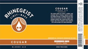 Cougar, By Rhinegeist Brewing, Cincinnati Ohio