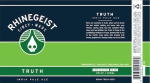 Truth, By Rhinegeist Brewing, Cincinnati Ohio