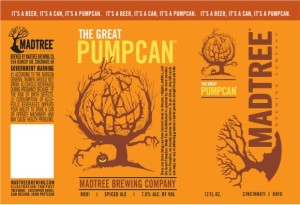 The Great Pumpcan by MadTree Brewing