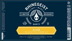 Rhinegeist - Alice - Label