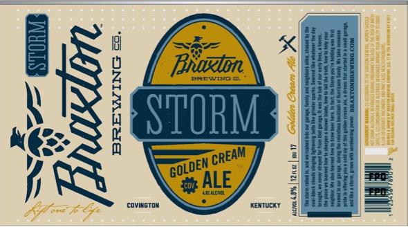 Braxton Storm Beer Label