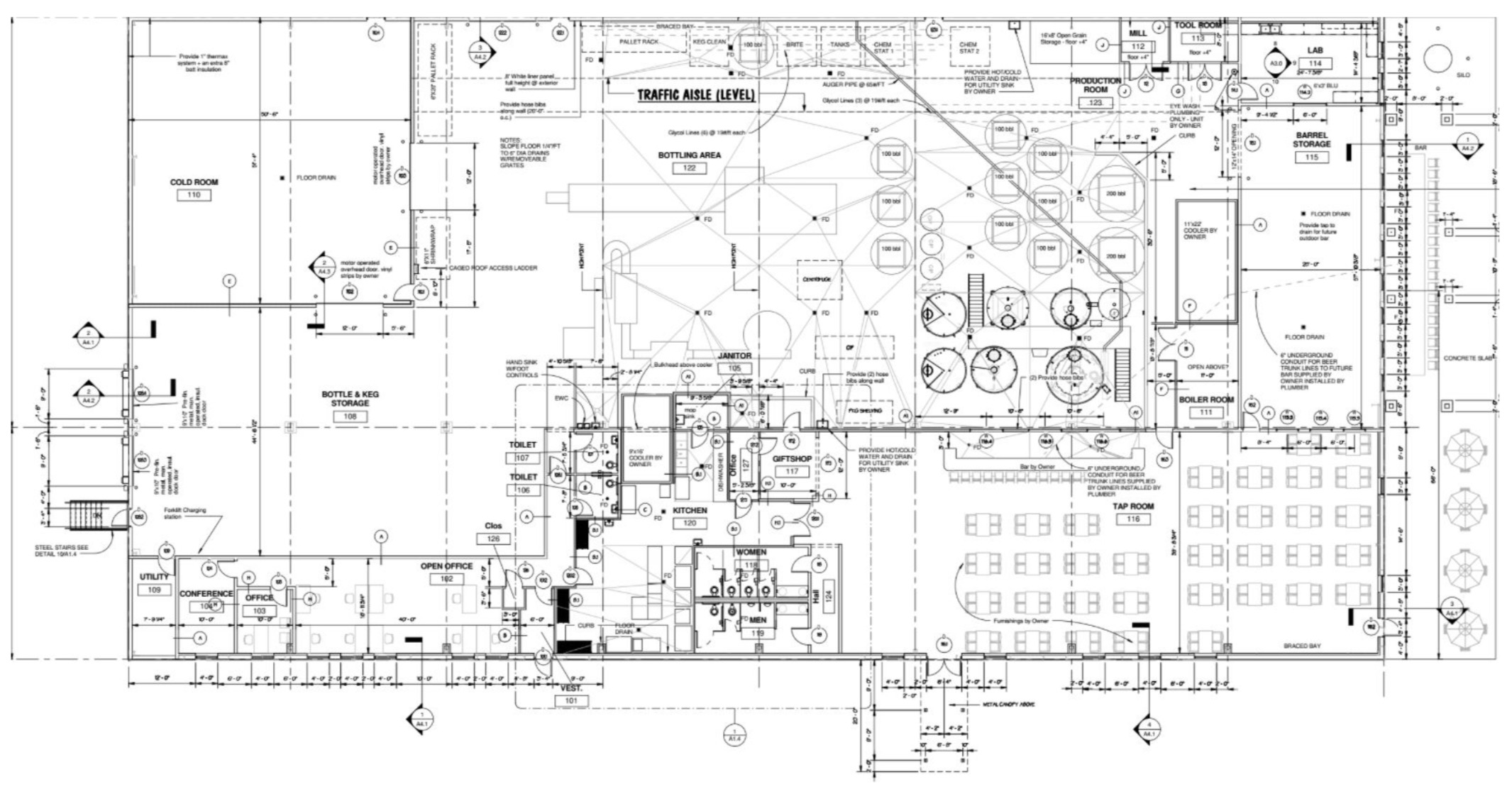 Rediscovering rivertown the new monroe brewery moves forward for Brewery floor plan