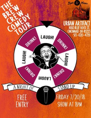 The Brew Crew Comedy Tour at Urban Artifact Brewery @ Urban Artifact | Cincinnati | OH | United States