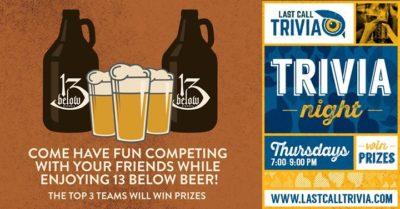 Last Call Trivia @ 13 Below Brewery | Cincinnati | OH | United States