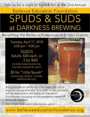 Spuds & Suds Fundraiser @ Darkness Brewing | Bellevue | KY | United States