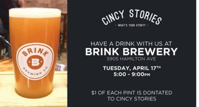 Cincy Stories Fundraiser @Brink Brewery @ Brink Brewing Co | Cincinnati | OH | United States