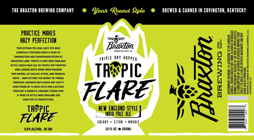 Braxton Tropic Flare Label